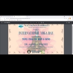 International Yoga Day- 21st June 2021 celebration at HKCP -1